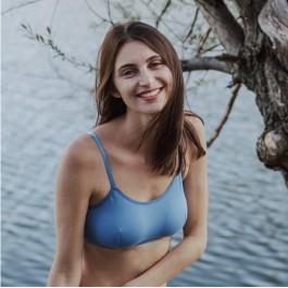 ALICE coton bio Bleu Minéral