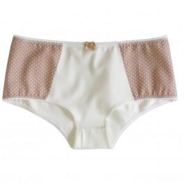 Culotte boxer CAMILLA coton bio crème/ Caramel