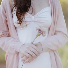 JOSÉPHINE nuisette coton bio Rose Poudre
