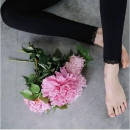 Legging noir dentelle